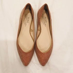 ZARA rose gold sparkle flats